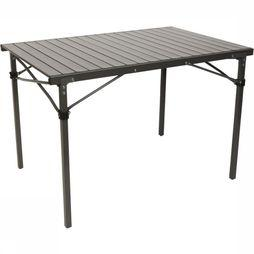 Bo-Camp Table Lamel Solid Met Draagtas 105X70X70 Cm mid grey