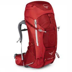 Osprey Backpack  Ariel Ag 65 mid red/dark red