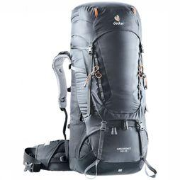 Deuter Backpack Aircontact 55+10 dark grey/black