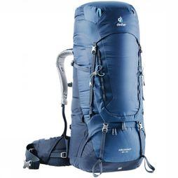 Deuter Backpack Aircontact 65+10 dark blue