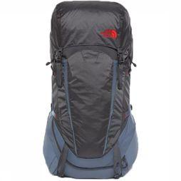 The North Face Backpack  Terra 55-65 dark grey/mid red