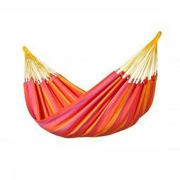La Siesta Hamac Sonrisa Single Orange/Rouge