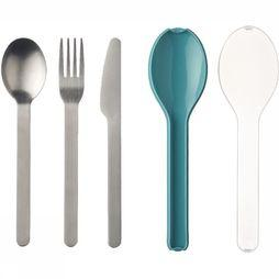 Mepal Cutlery Set Ellipse (3pcs) Turquoise
