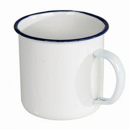 Cup Va KroEmaille Wit+Blauw Rand D.