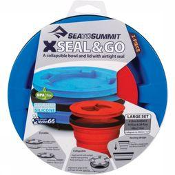 Sea To Summit Beker X-Seal And Go Set Large Blauw