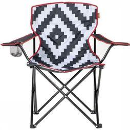 Bo-Camp Chaise Urban Outdoor Madison Noir/Blanc