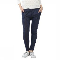 SO BASIC Broek Ness Lurex Donkerblauw