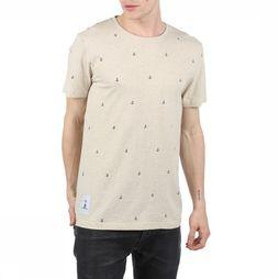Makia T-shirt Anchors Gebroken Wit/Assortiment Geometrisch