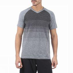 Saucony T-Shirt Seamless V-Neck Dark Grey Mixture/Light Grey Mixture
