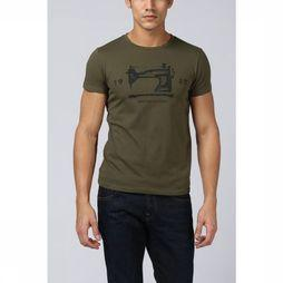 Scotch & Soda T-Shirt 142676 Kaki Moyen