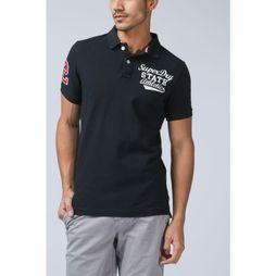 Superdry Polo Classic S/Serstate Donkerblauw