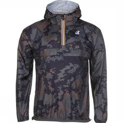 K-Way Coat Le Vrai 3.0 Leon dark khaki/Assortment Camouflage