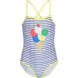 Knot so bad Bathing Suit Icecream light yellow/dark blue