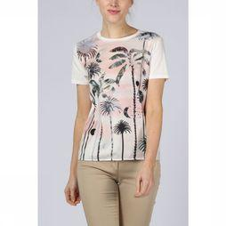 Maison Scotch T-Shirt Ss Photoprinted Blanc Cassé
