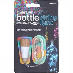 Suck UK Gadget Multicolour Bottle String Light white/camel