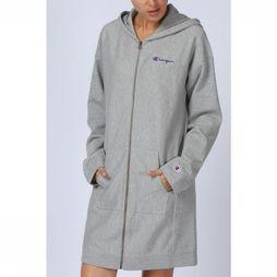 Champion Trui Long Zip Hooded Lichtgrijs Mengeling