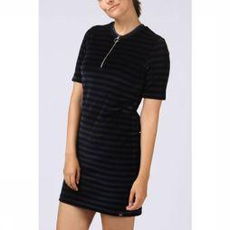 Maison Scotch Dress Ss Striped Velour dark blue/black