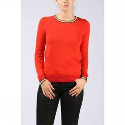 Maison Scotch Pullover Basic Pull With Special Ribs mid red