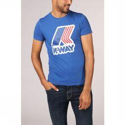K-Way T-Shirt Pete Macro Logo Bleu Roi