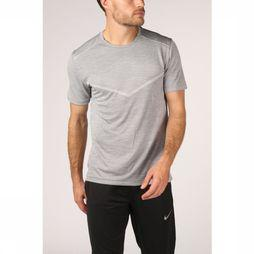 Nike T-Shirt TechKnit Cool Ultra Gris Clair Mélange