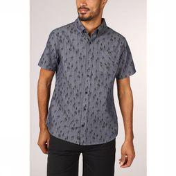 United by Blue Hemd Grove Ss Button Down Marineblauw