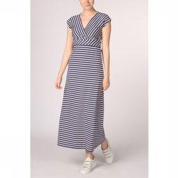King Louie Jurk Lot Maxi Breton Stripe Marineblauw/Wit