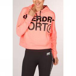 Superdry Trui Active Batwing Hood Donkerroze