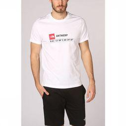 The North Face T-Shirt Gps Antwerp Blanc