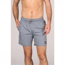 Speedo Short De Bain Stripe Leisure marine/Blanc Cassé