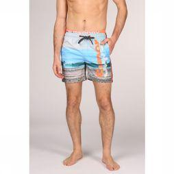Superdry Swim Shorts Photographic Volley blue/orange