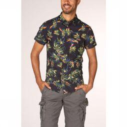 Scotch & Soda Shirt 148898 dark blue/Assortment Flower