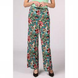 Pepe Jeans Trousers Linda mid green/Assortment Flower