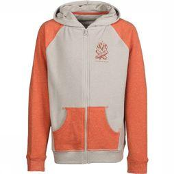 United By Blue Kids Polaire Mallow Out Up Hoodie Gris Moyen/Rouille