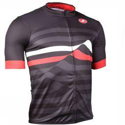 Castelli T-Shirt Podio black/mid red