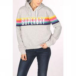 Superdry Pull Carly Carnival Hood Gris Clair/Assortiment Arc-En-Ciel