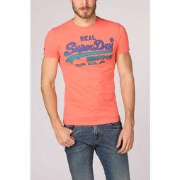 Superdry T-Shirt Vintage Logo Fade Mid Weight Middenroze