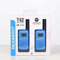 Motorola Walki-Talkie Talkabout T42 Blue Twin Pack Middenblauw/Zwart