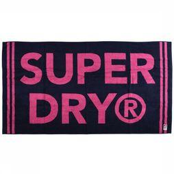 Superdry Beach Towel Stripe blue/mid pink