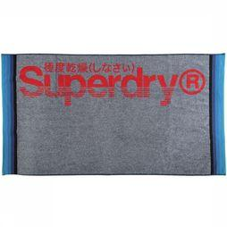 Superdry Beach Towel Sun Rider mid grey/mid red