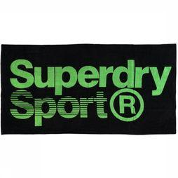 Superdry Beach Towel Large Sport black/green