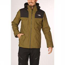 The North Face Manteau Fourbarrel Triclimate Kaki Foncé/Noir