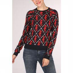 Maison Scotch Pull 150747 marine/Rouge Moyen
