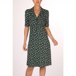 King Louie Dress Diner Birdie dark green/off white