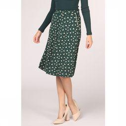 King Louie Skirt Sofia Midi Birdie dark green/off white