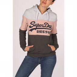 Superdry Trui Vintage Logo High Build Emb Entry Hood Lichtgrijs/Lichtroze