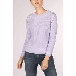 Superdry Pull Harper Pointelle Rib Knit Pourpre Clair