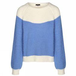 FRNCH Pullover Nigelle off white/light blue