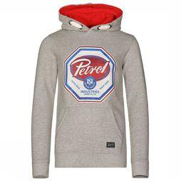Petrol Pullover B-3090-Swh012 Light Grey Mixture
