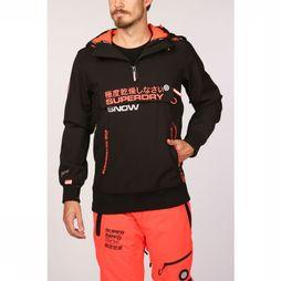 Superdry Windstopper Snow Tech Half Ziphood Zwart