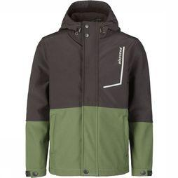 Ayacucho Junior Softshell Visconsin Middenkaki/Donkergrijs